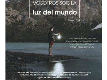 Luz de la Paz de Bélen en Castellón de la Plana 2019